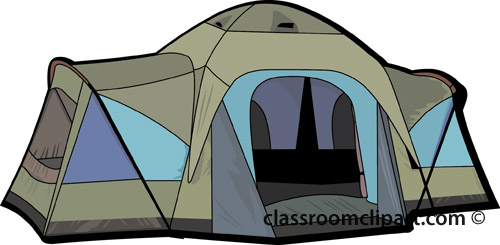 Camping campers tent 9 classroom clipart