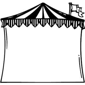 Circus tent frame clipart cliparts of circus tent frame free 2