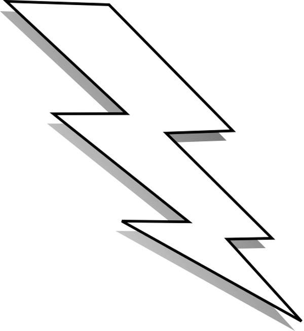 Clip art black line lightning bolt clipart