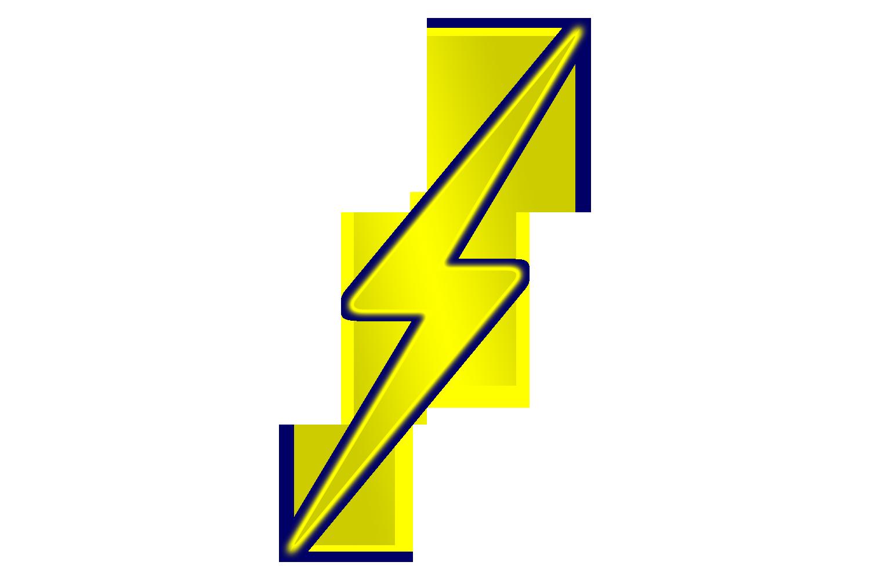 Lightning bolt lightning silhouette clipart