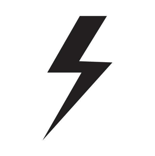 Lightning bolt symbols  clipart