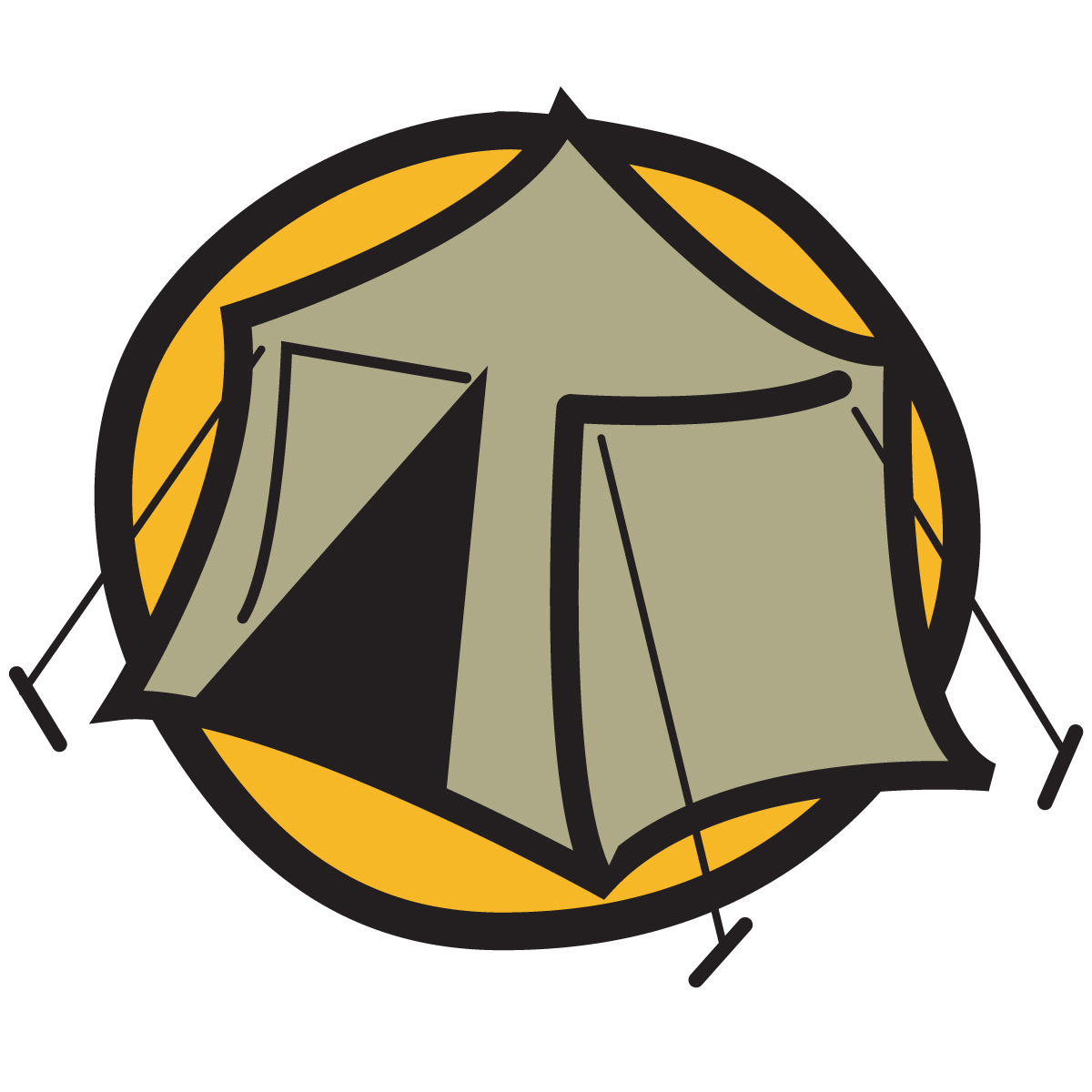 Tent camping clipart free clipart