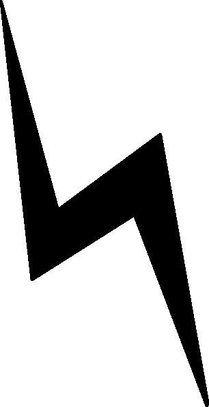 White lightning bolt clip art vector free clipart
