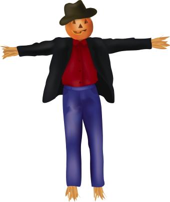 Halloween scarecrow clipart