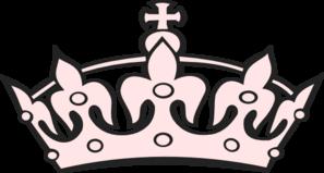 Pink tiara clip art at vector clip art