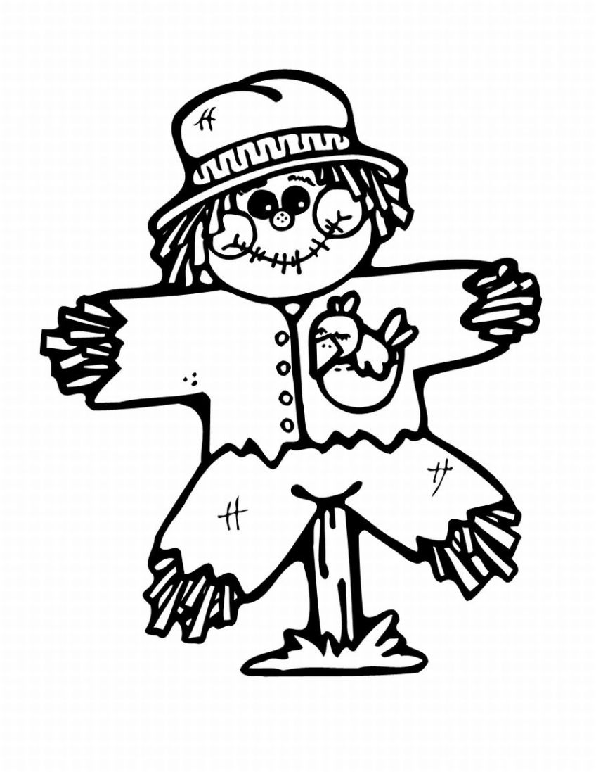 Scarecrow coloring pages free free clipart images
