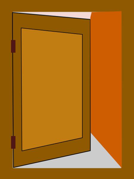 Door 4 clip art at vector clip art