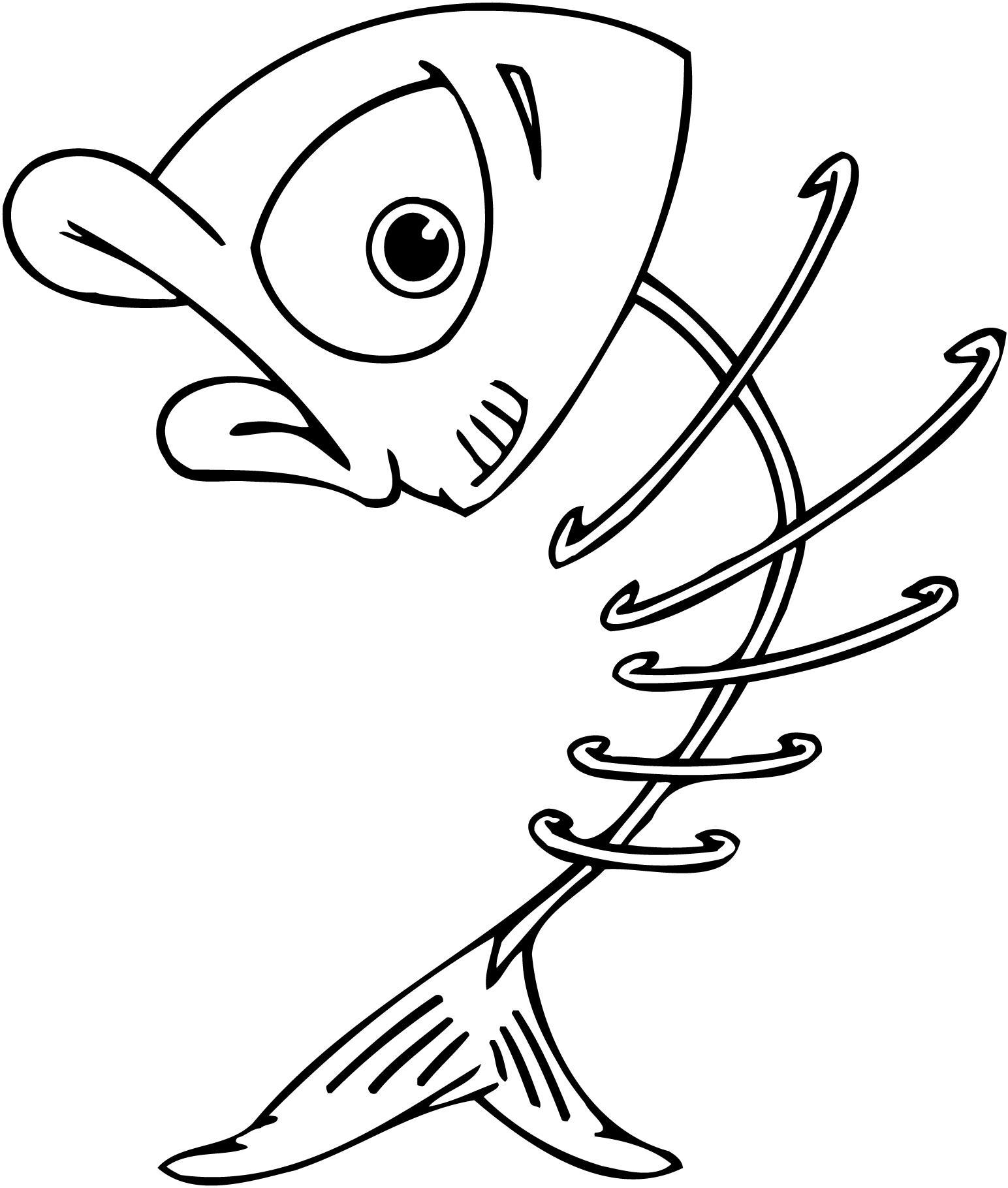 Fish skeleton clip art clipart