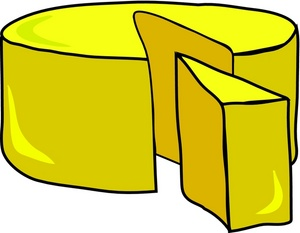Food clipart image round of yellow cheese