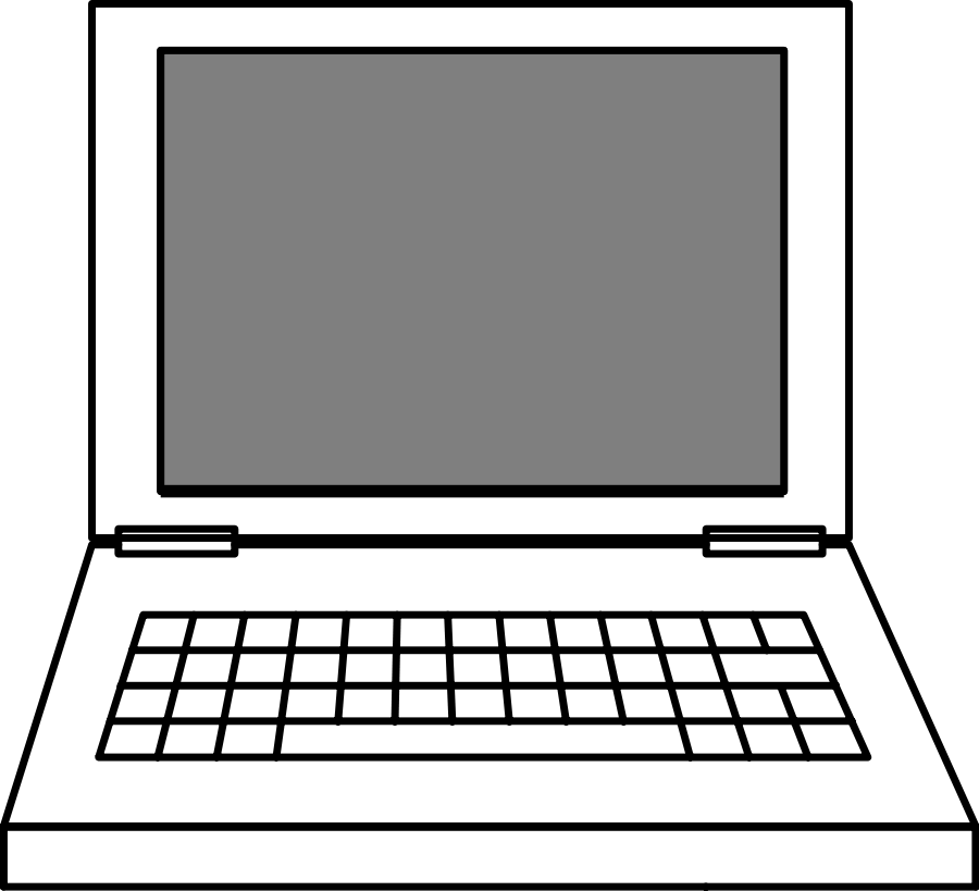 Laptop clipart free clipart images