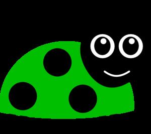 Green lady bug clip art at vector clip art