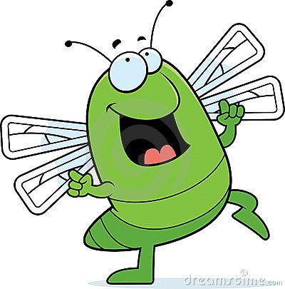 Happy bug clipart