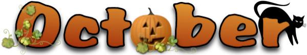 October september clip art