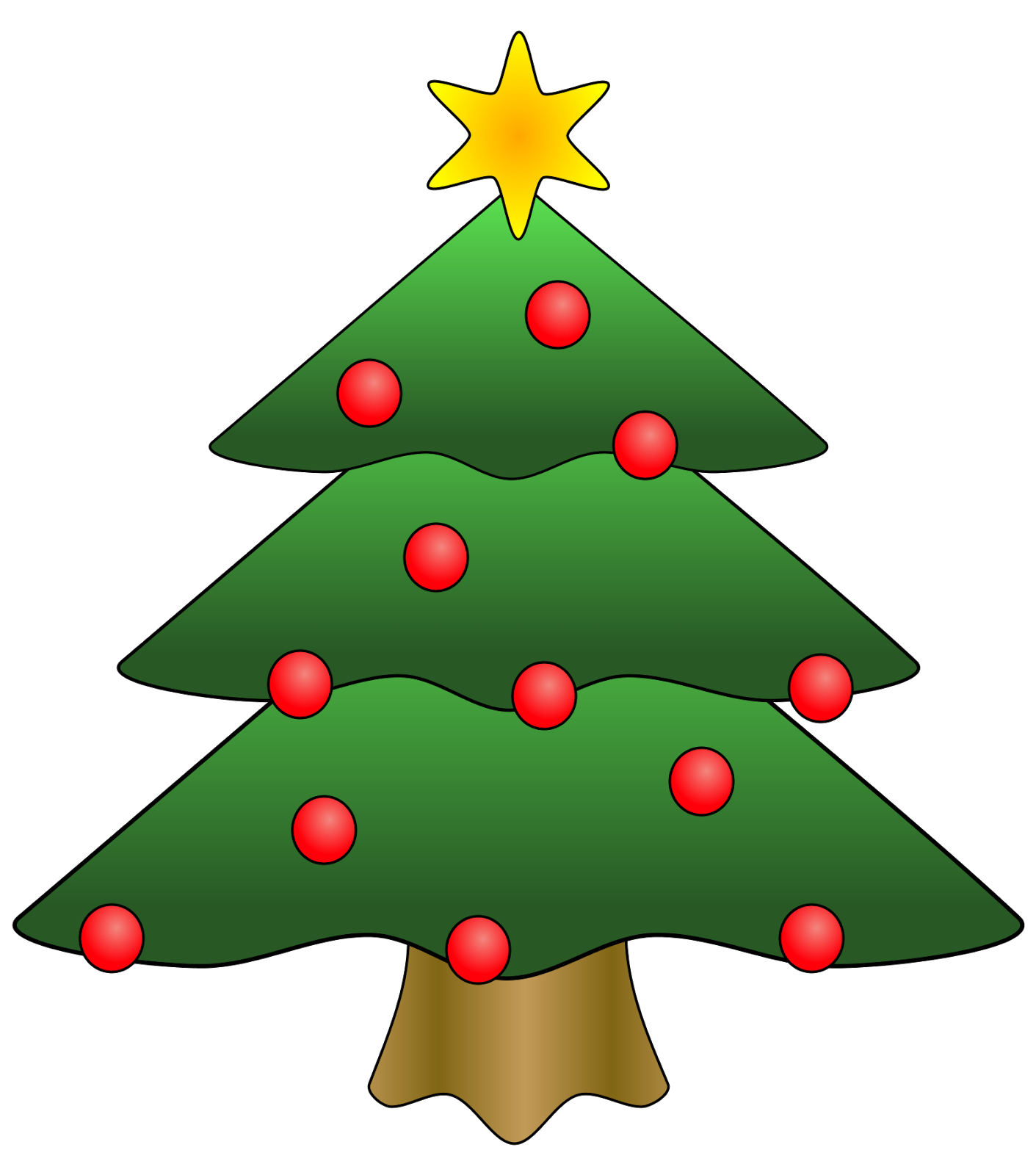 Pine tree outline clipart free clipart images