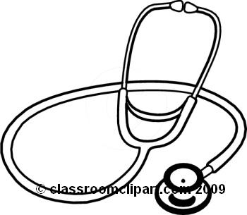 Stethoscope clip art 2