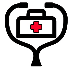 Stethoscope pin clip art
