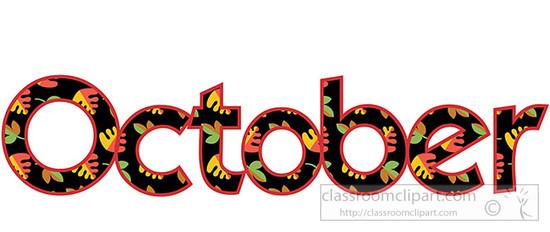 Webwords october classroom clipart