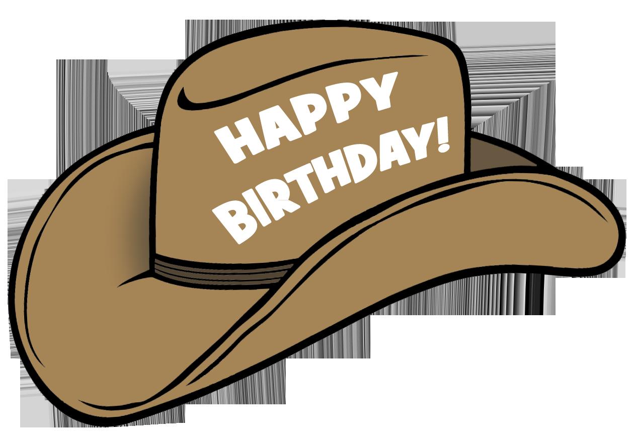 Cowboy hat birthday hat 3 clipart