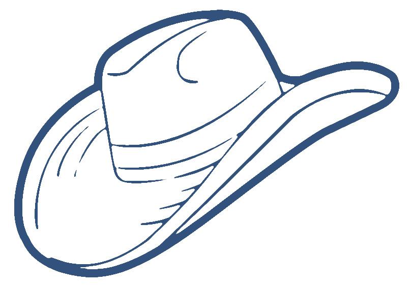 Cowboy hat clipart 9