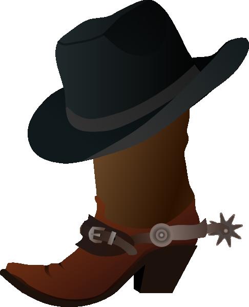 Cowboy hat cowboy boot and hat clip art at vector clip art