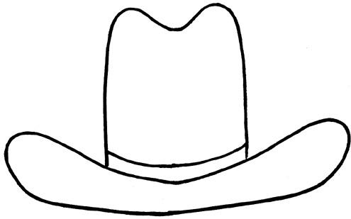 Cowboy hat outline clipart