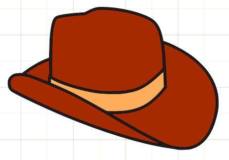 Cowboy hat photo clipart
