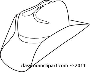 Cowboys cowboy hat 8 outline classroom clipart