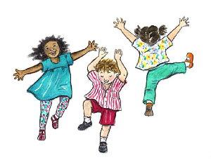Kids dancing clip art