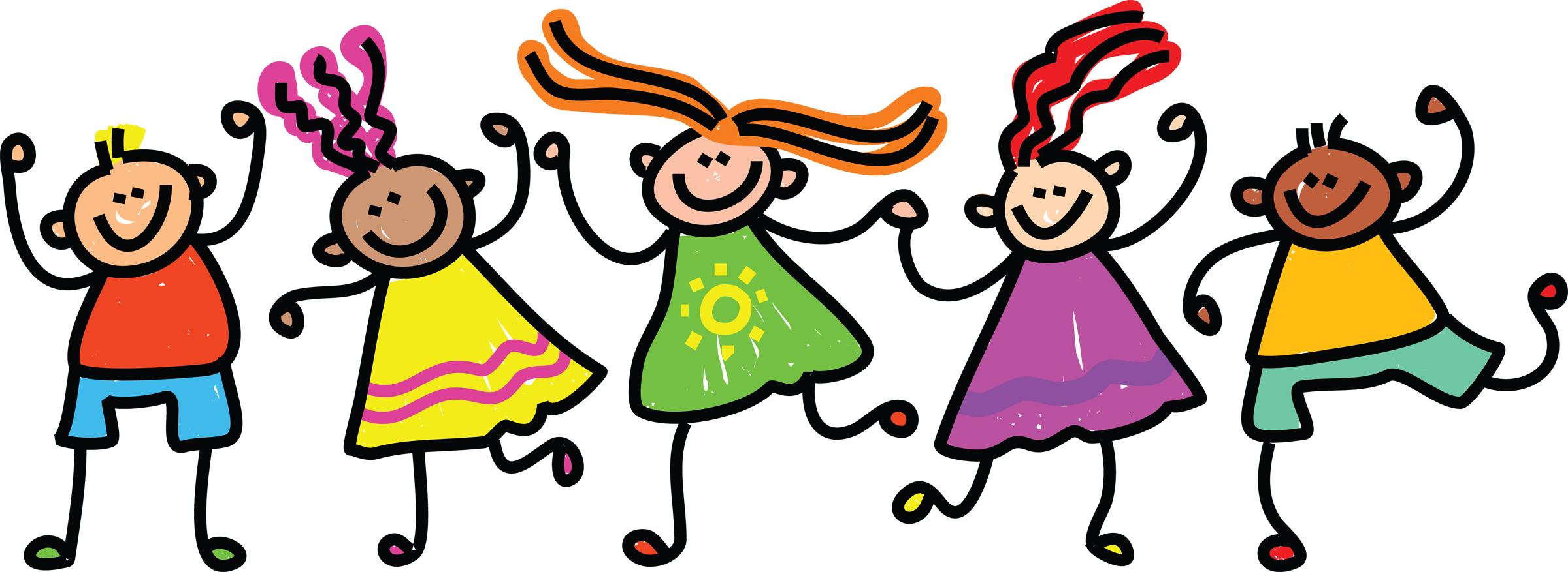 Kids dancing clipart 2