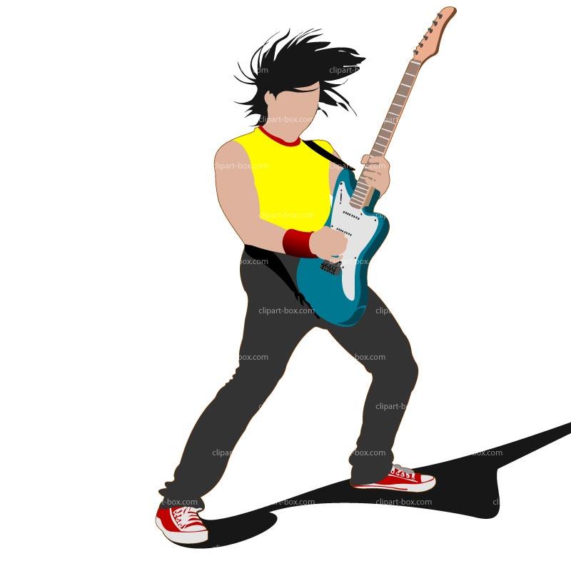 Rock guitar clip art free clipart images 2