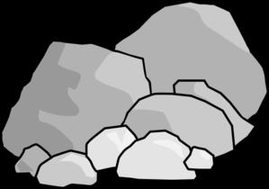 Pile of rocks cartoon
