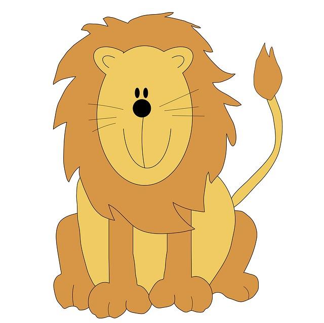 Baby lion lion clipart