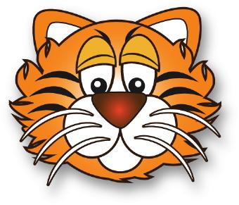 Baby tiger tiger clip art
