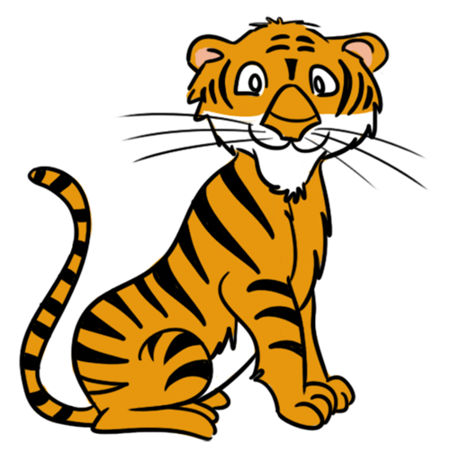 Baby tiger tiger clipart 2