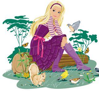 Barbie clipart en cute barbie and html