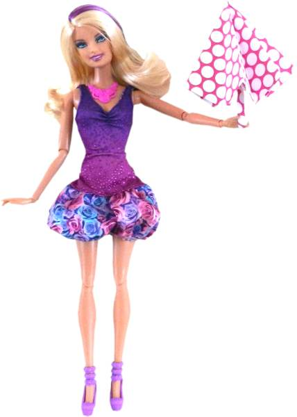 Barbie doll clip art invitation templates