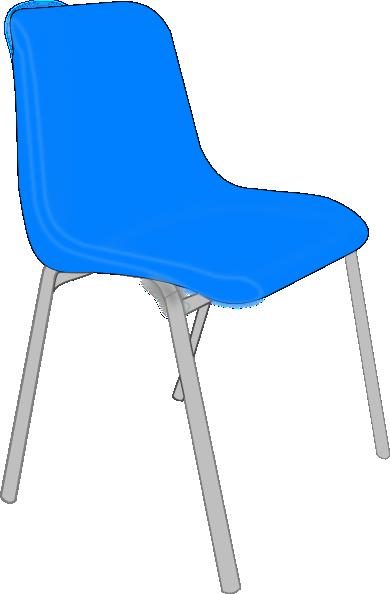 Classroom blue chair clip art at vector clip art