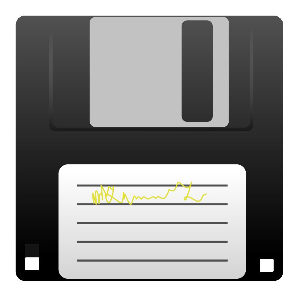Clip art icon hard disk