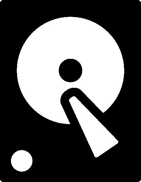 Hard disk icon clip art at vector clip art
