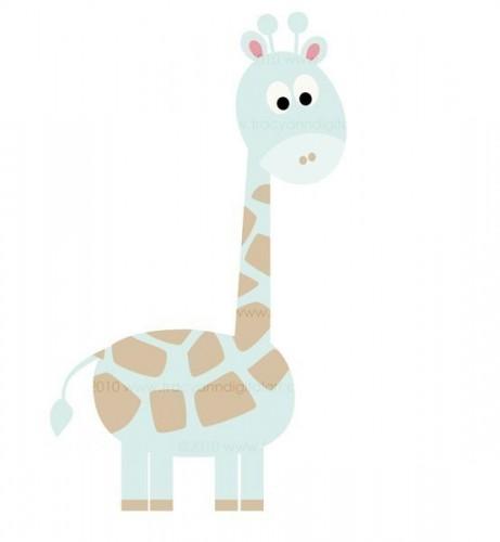 Baby giraffe baby blue giraffe clipart