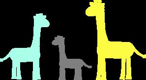 Baby giraffe family clip art at vector clip art