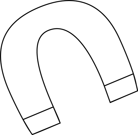 Black and white magnet clip art black and white magnet vector image