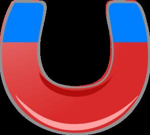 Blue magnet clip art at vector clip art