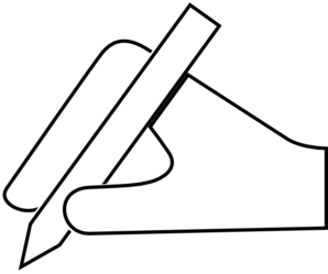 Hand cursor pen clip art at vector clip art