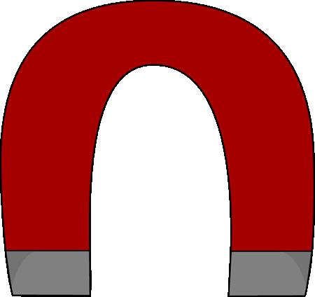 Horsehoe magnet clip art horsehoe magnet vector image
