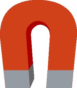 Horseshoe magnet clip art at vector clip art