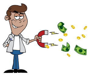 Money magnet clipart image clip art illustration of a