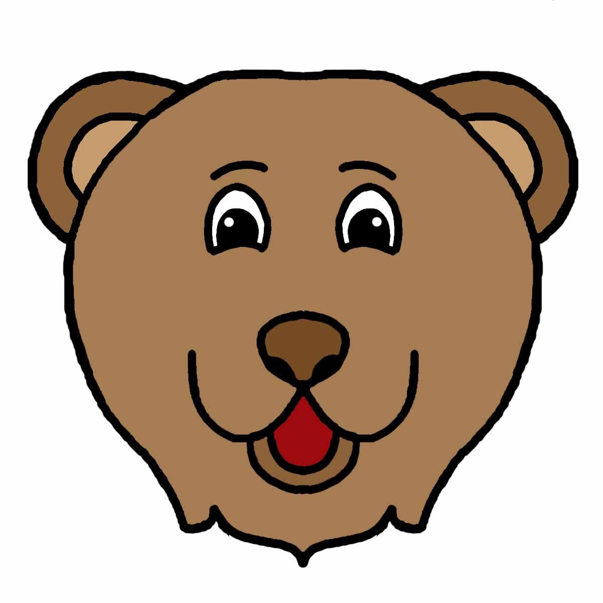 Bear head clipart 5 bear face clipart free clip art