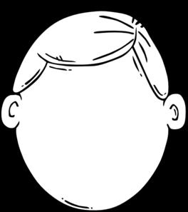 Boy face blank clipart