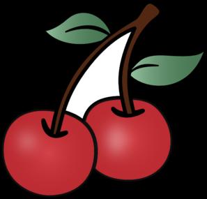 Cartoon cherry clip art at vector clip art